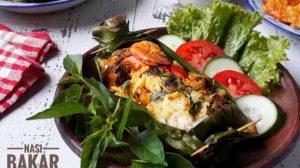 Nasi Bakar Isi Seafood