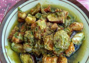 Sambal hijau terong + ikan asin jambal